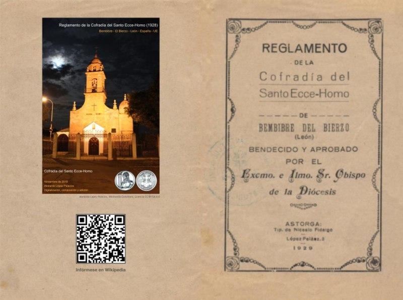 Reglamento de la Cofradia del Santo Ecce-Homo (1928) - doble página