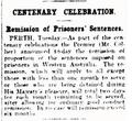 Remission of Prisoners' Sentences, The Age 9 October 1929.png