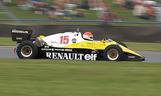 Renault RE40 - An ex-Alain Prost Renault RE40 being demonstrated by Michel Leclère at Donington Park in 2007.