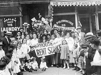 Rent strike - Rent Strike, New York Times, 1919.