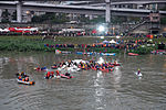 Rescue Team Searching Crashed B-22816 in Keelung River 20150204j.jpg