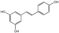Estructura química de trans-resveratrol