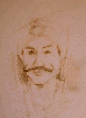 Malacca City - A sketch of Parameswara, the founder of Malacca.
