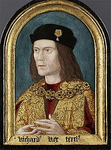 Portrait anonyme de Richard III, vers 1520, (Society of Antiquaries, Londres).