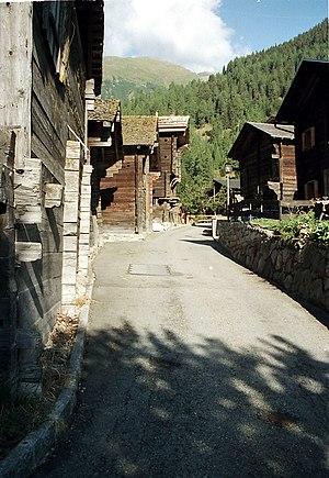 Grafschaft, Switzerland - Ritzingen village