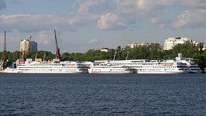 River cruise ships in North River Port 9-jun-2012 01.JPG
