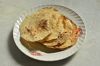Dal - Fire toasted papads, using lentils as a major ingredient