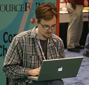 Rob Malda - Malda at LinuxWorld in Boston,  2006