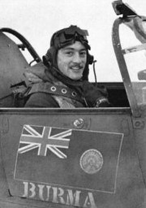Robert Stanford Tuck - Stanford Tuck in the cockpit of his Hurricane c. 1940.