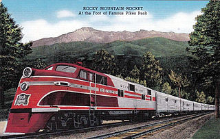 <i>Rocky Mountain Rocket</i> Passenger train route between Chicago and Denver