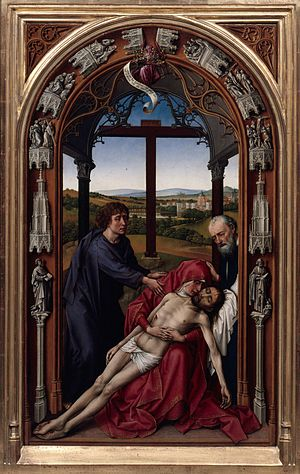 Miraflores Altarpiece - Image: Rogier van der Weyden The Altar of Our Lady (Miraflores Altar) Google Art Project (center panel without frame)