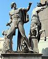 Roma, dioscuri di montecavallo, copie di età imperiale da originali greci del V secolo ac. 02.JPG