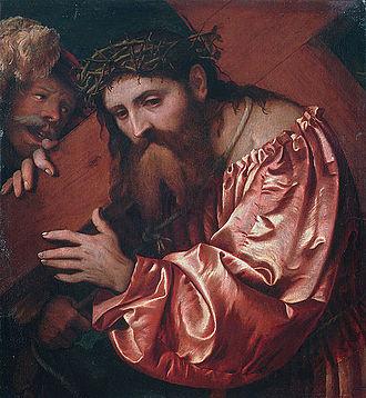Romanino -  Romanino, Christ Carrying the Cross