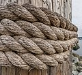 Rope on a wooden post at Sidney Harbor, British Columbia, Canada 06.jpg