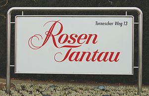Rosen Tantau - Company nameplate