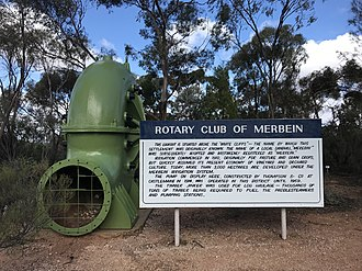 Merbein - Sign found at the cliffs near Mildara winery