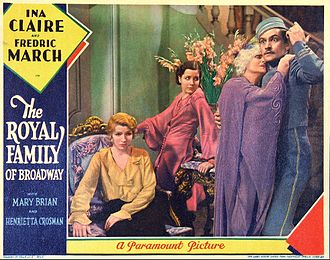 The Royal Family (play) - Lobby card for The Royal Family of Broadway (1930)