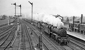 Rugeley Trent Valley railway station - The station in 1958