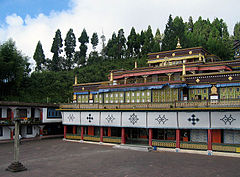 The Rumtek monastery is the most famous monument of Sikkim and was the centre of media attention in 2000.