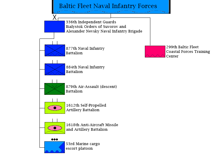 Russian Baltic Fleet Naval Infantry Forces