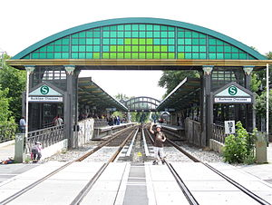 Buckower Chaussee station - The archway of the Buckower Chaussee station