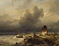 """SA 1797-De stranding van een schip te Scheveningen bij stormachtig weer-""""Het stranden van een schip te Scheveningen bij stormachtig weder"""".jpg"""