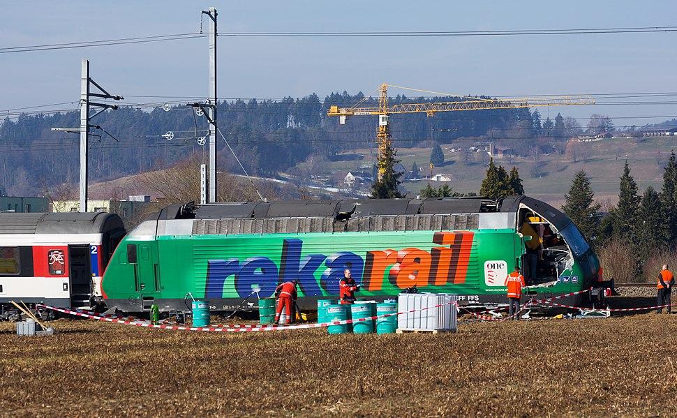 SBB Re 460 087 Eisenbahnunfall Rafz