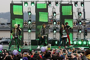 Teen Top - Teen Top during an open-air Inkigayo performance in 2012