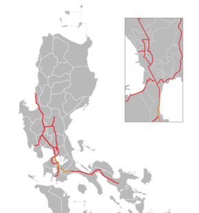 new styles dce1a 7e96a Map of expressways in Luzon, with the South Luzon Expressway in orange