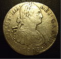 SPANISH PIECE OF EIGHT, CARLOS IV MEXICO MINT 1805 -8 REALES b - Flickr - woody1778a.jpg