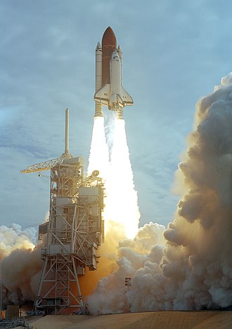 STS-40 - STS-40 Columbia lifting off from the Kennedy Space Center