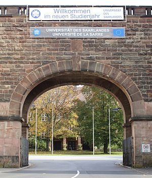 Saarland University - Image: Saarland University entrance