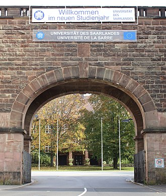 Saarland University - Image: Saarland University entrance