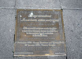 1972 and 1973 Dublin bombings - Plaque commemorating the dead on Sackville Place