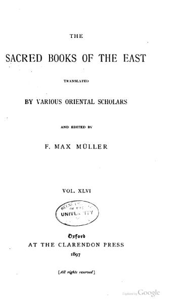 File:Sacred Books of the East - Volume 46.djvu