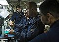 Sailors test JP5 fuel aboard USS Mustin. (10193544993).jpg