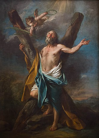 Charles-André van Loo - Image: Saint André qui embrasse sa croix