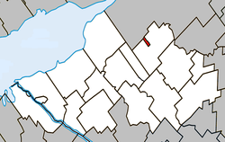 Location within Nicolet-Yamaska RCM.