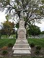 Saint John the Baptist Church (Maria Stein, Ohio) - exterior, cemetery, Crucifix.jpg