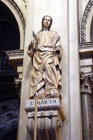 Olivia of Palermo - Statue of Olivia in the Cathedral of Palermo