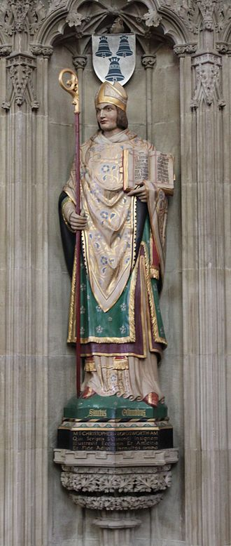 Saint Osmund - Image: Saint Osmund colored statue