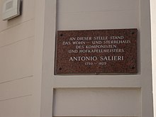 Salieris Sterbehaus Göttweihergasse (Quelle: Wikimedia)