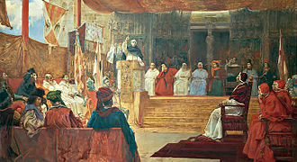 Compromise of Caspe - Salvador Vinegra's depiction of the deliberations