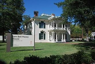 Samuel B. Maxey - Sam Bell Maxey House in Paris, Texas