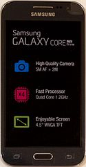 Samsung Galaxy Core Prime LTE charcoal gray - front.jpg