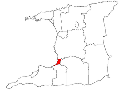 Location on the island of Trinidad