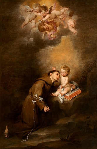 Museum of Fine Arts of Seville - Image: San Antonio de Padua con Niño (Murillo)