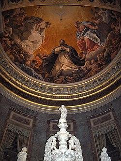 St Dominic's Glory crowning the Arca di San Domenico.