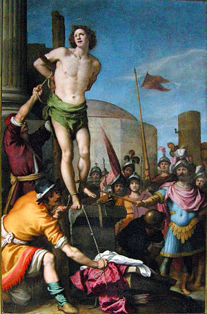 Jacopo da Empoli - Martyrdom of St. Sebastian, San Lorenzo, Florence.