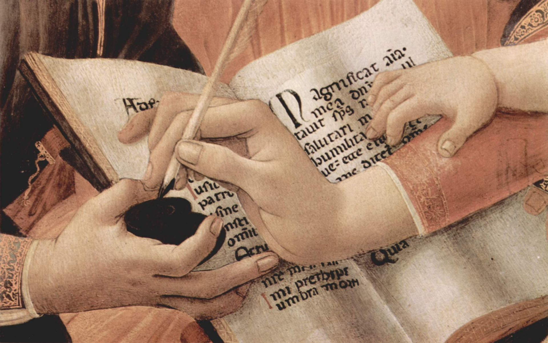 Botticelli writing detail